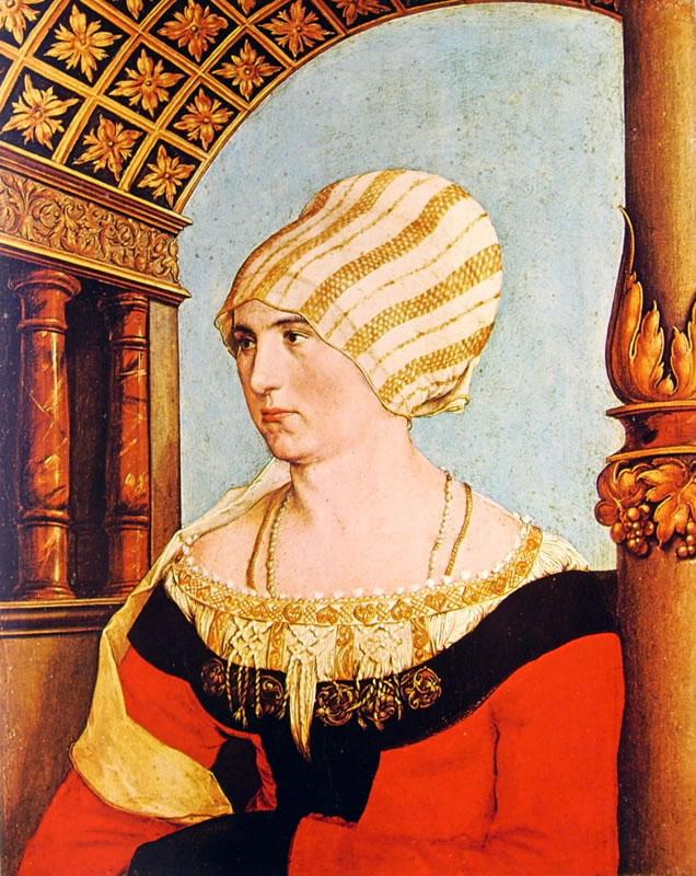 Hans Holbein il Giovane: Dittico dei coniugi Meyer Dorothea Annengiesser