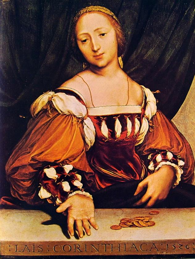 Hans Holbein il Giovane: Laide di Corinto