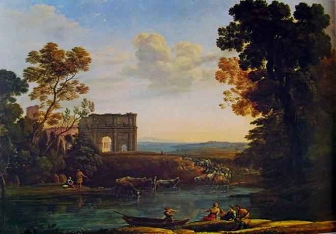 Lorrain (Claude Gellée): Capriccio pastorale con l'Arco di Costantino