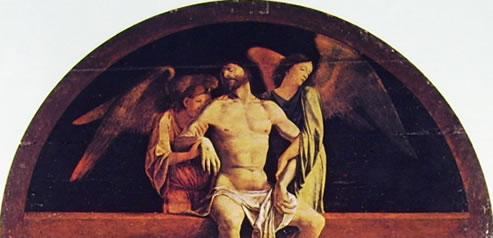 Lorenzo Lotto: Pala di Santa Cristina al Tiverone - Il Cristo