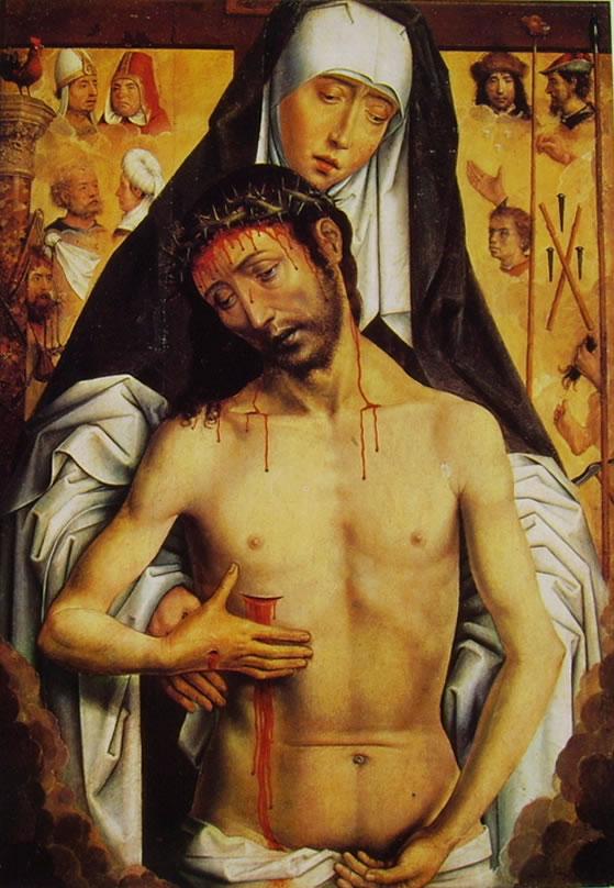 Hans Memling: Maria che sorregge il Cristo morto