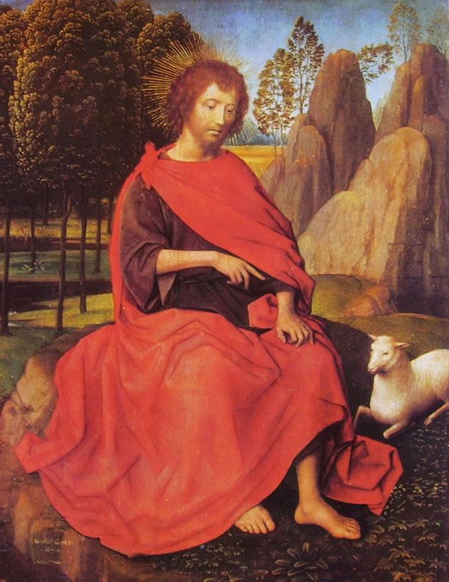 Hans Memling: Dal Dittico San Giovanni Battista e la Veronica - di San Giovanni Battista