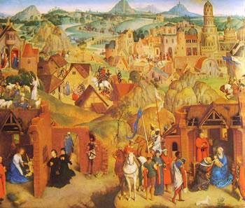Hans Memling: Le sette gioie di Maria parte sinistra