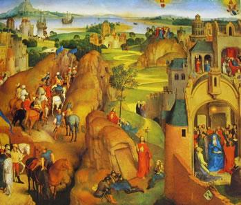 Hans Memling: Le sette gioie di Maria parte destra