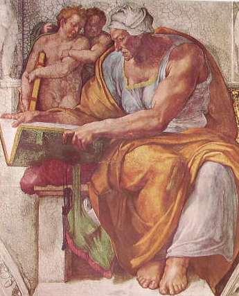 Michelangelo - Volta Cappella Sistina, part. della Sibilla Cumana
