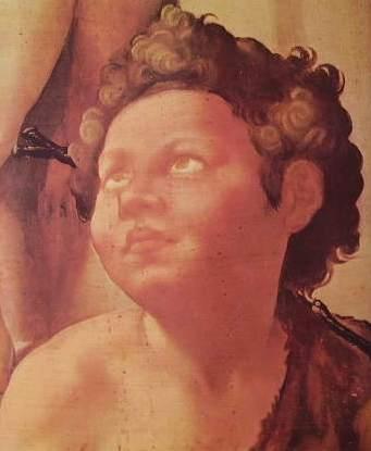 Michelangelo Buonarroti - Tondo Doni (particolare) Uffizi Firenze