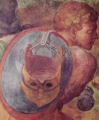 Michelangelo - La conversione di Saulo, part.lare del soldato