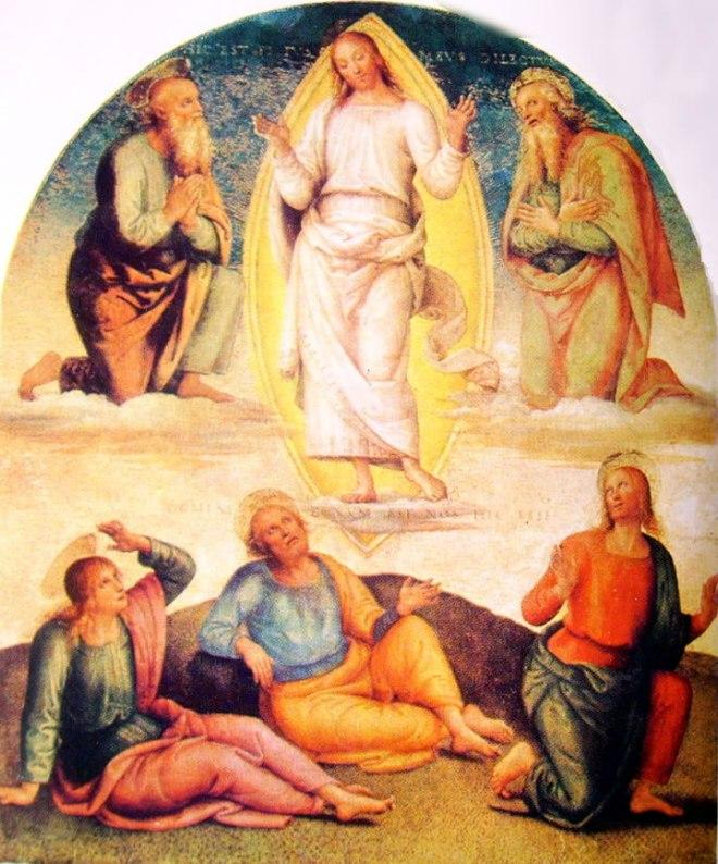 Il Perugino: Ornamentazione del Cambio La Trasfigurazione