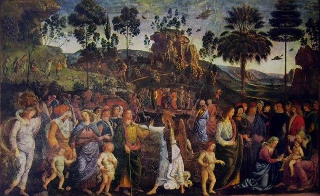 Il Perugino: Dipinti della Cappella Sistina - Viaggio di Mosè in Egitto
