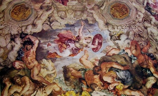 Pietro da Cortona: Minerva lotta contro i giganti