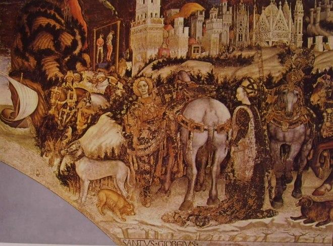 Pisanello: San Giorgio e la principessa