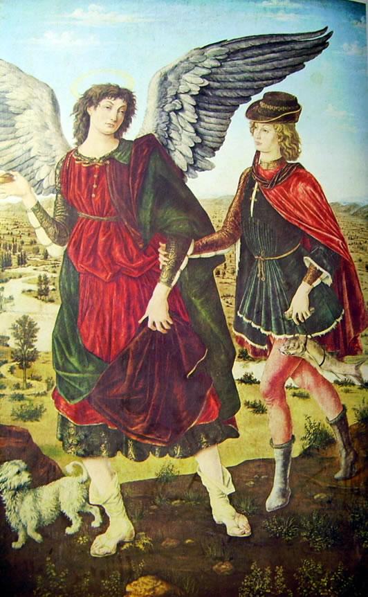 Antonio del Pollaiolo: Tobiolo e l'Arcangelo Raffaele