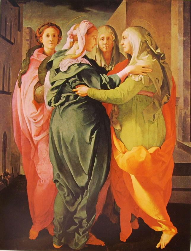 Pomtormo: Visitazione, cm. 202 x 156