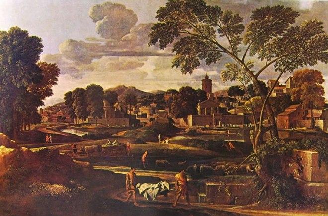Nicolas Poussin: Paesaggio con i funerali di Focione