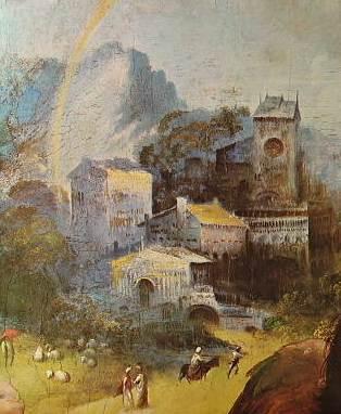 Raffaello - Particolare della Madonna di Foligno