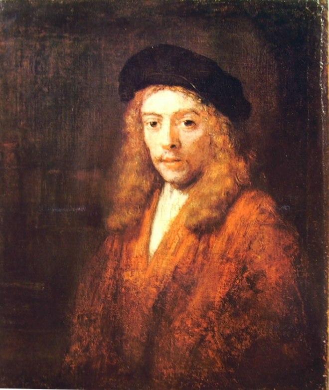 Rembrandt Harmenszoon Van Rijn: Ritratto di Tito con grande berretto