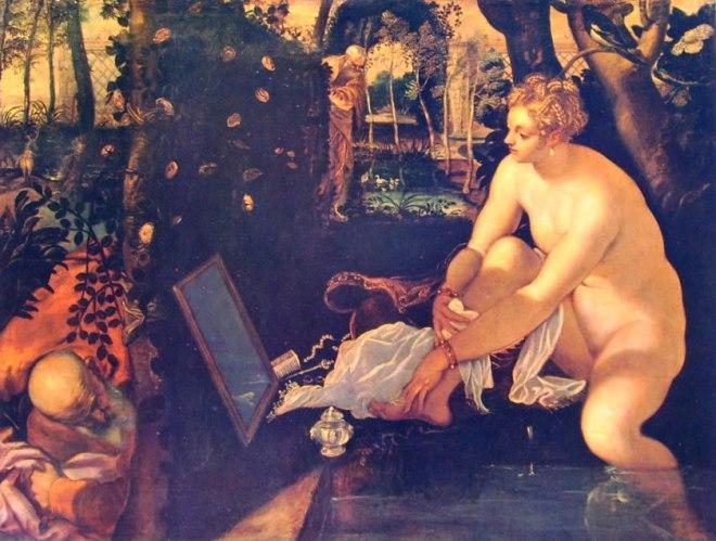 Il Tintoretto: Susanna e i vecchioni (Kunsthistorisches Museum di Vienna)