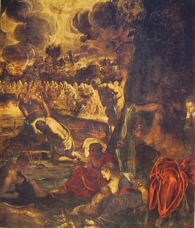 Il Tintoretto: Dipinti per la sala grande di San Rocco - Il Battesimo