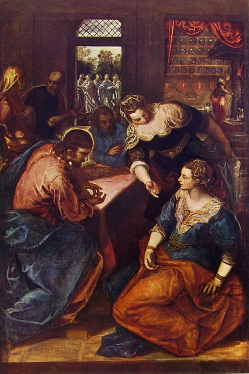 Il Tintoretto: Cristo in casa di Marta e Maria