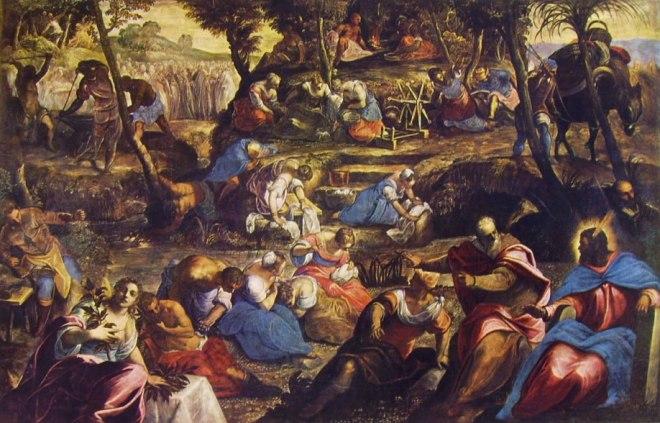 Il Tintoretto: La raccolta della manna