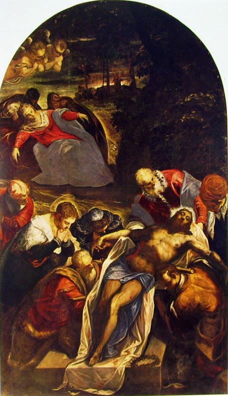 Il Tintoretto: La deposizione nel sepolcro