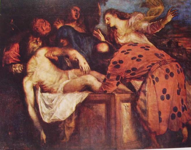 Tiziano: La deposizione nel sepolcro