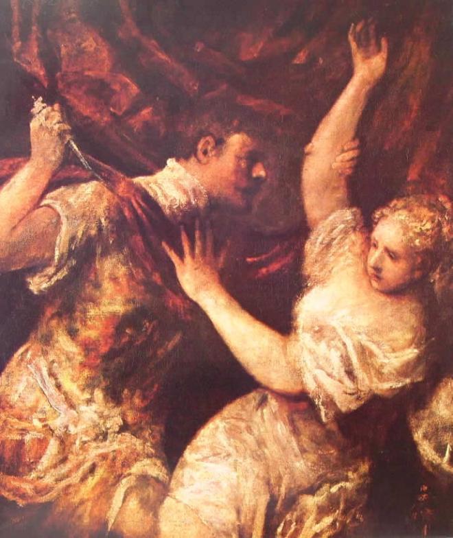 Tiziano: Tarquinio e Lucrezia