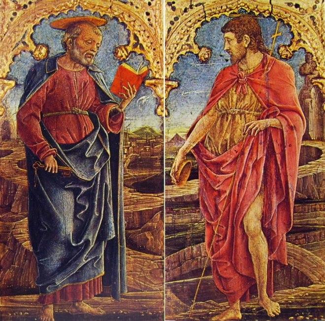 Cosmè Tura: San Pietro e San Giovanni Battista