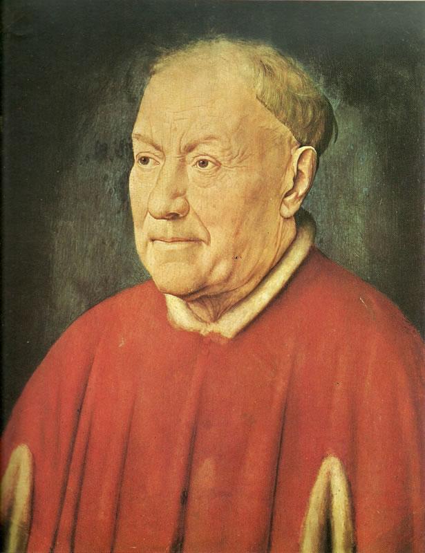 Jan van Eyck:Ritratto del cardinale Nicola Albergati