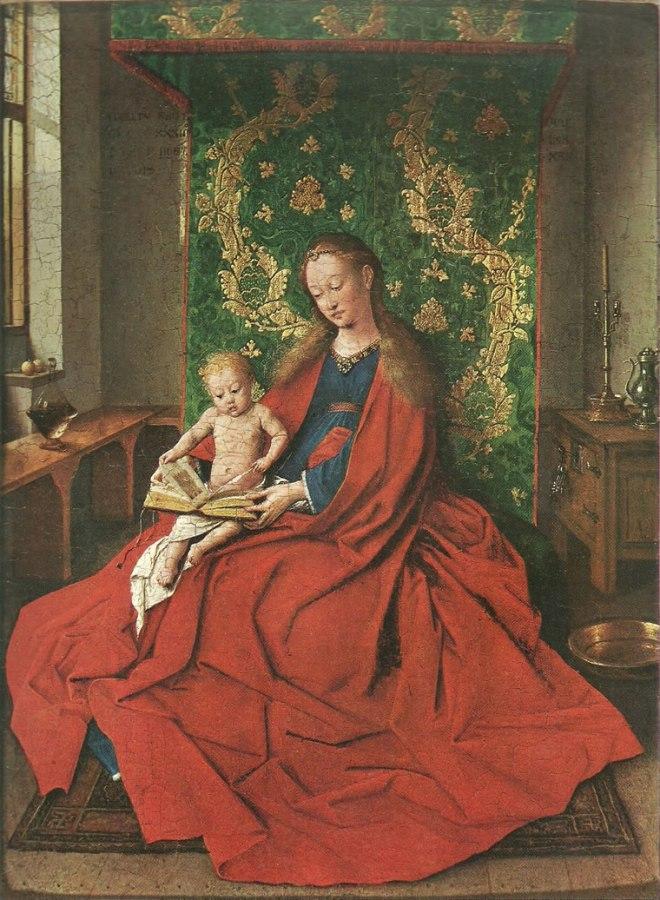 Jan van Eyck:Madonna col bambino leggente (Madonna di Ince Hall)