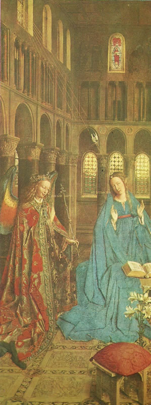 Jan van Eyck:L'Annunciazione di Washington