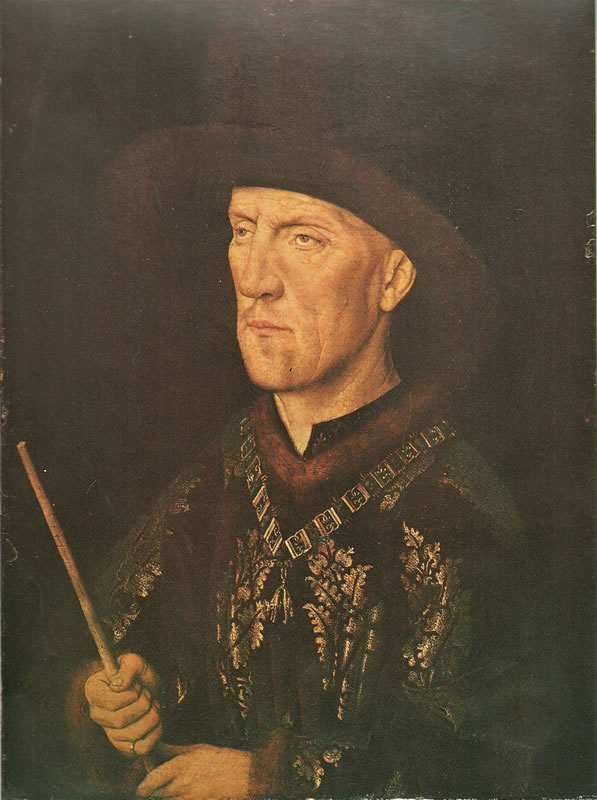Jan van Eyck:Ritratto di Baudouin de Lannoy