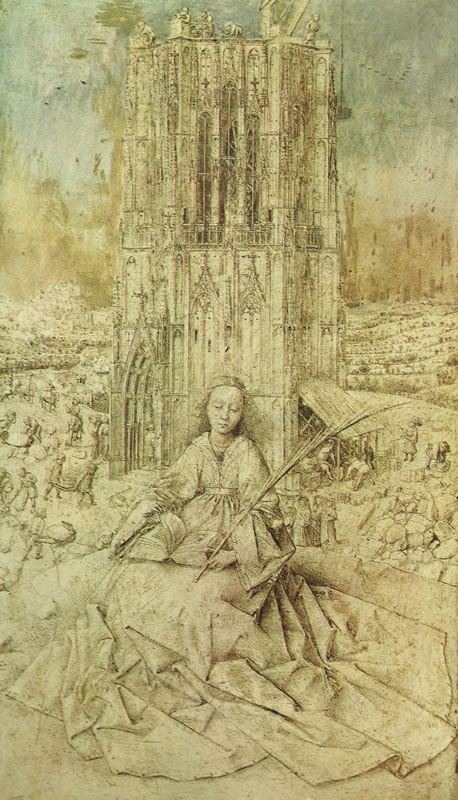 Jan van Eyck: Santa Barbara