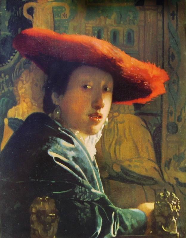 Jan Vermeer: Ragazza con cappello rosso