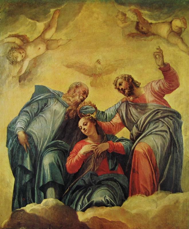 Dipinti per la sagrestia di San Sebastiano - l'incoronazione della Madonna -