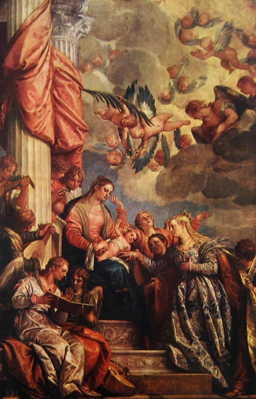 Il Veronese: Le nozze mistiche di Santa Caterina