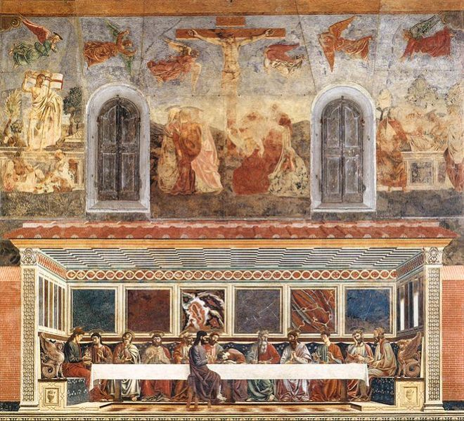 Andrea del Castagno: Cenacolo di Sant'Apollonia - L'Ultima cena