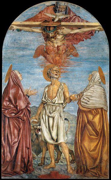 Andrea del Castagno: Trinità e santi