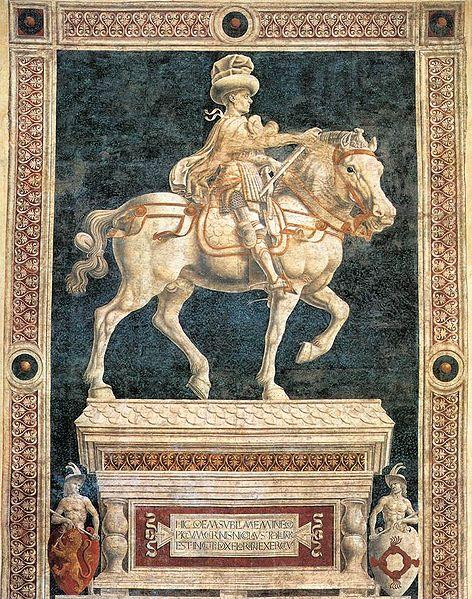 Andrea del Castagno: Monumento equestre di Niccolò da Tolentino