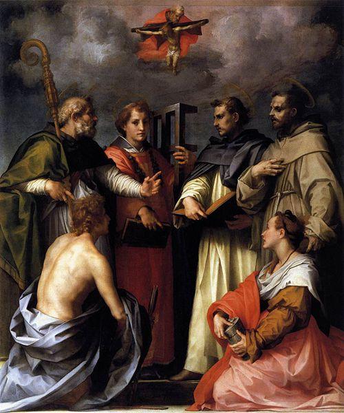 Andrea del Sarto: Disputa sulla Trinità