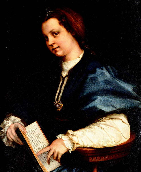 Andrea del Sarto: Dama col Petrarchino