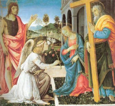 Filippino Lippi: Annunciazione e santi
