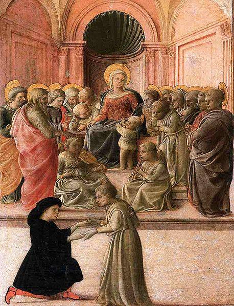 Filippo Lippi: Madonna col Bambino, santi, angeli e donatore