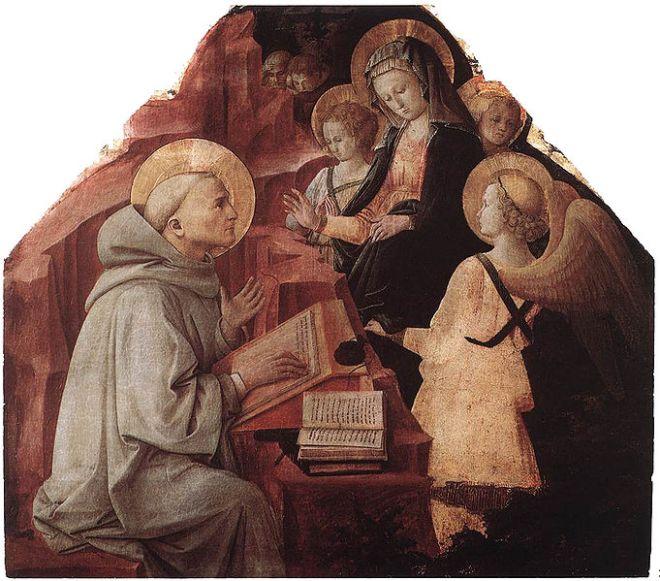 Filippo Lippi: Apparizione della Vergine a san Bernardo