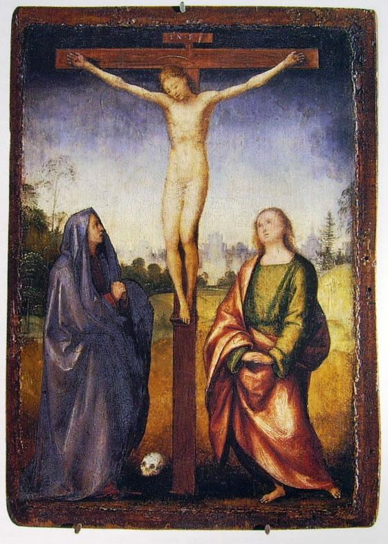 Fra' Bartolomeo: Cristo in croce tra la Vergine e San Giovanni Evangelista