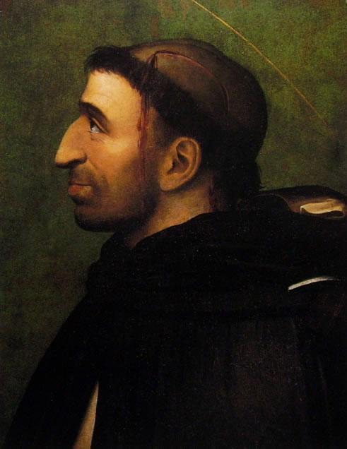 Fra' Bartolomeo: Ritratto di Girolamo Savonarola in sembianze di S. Pietro Martire