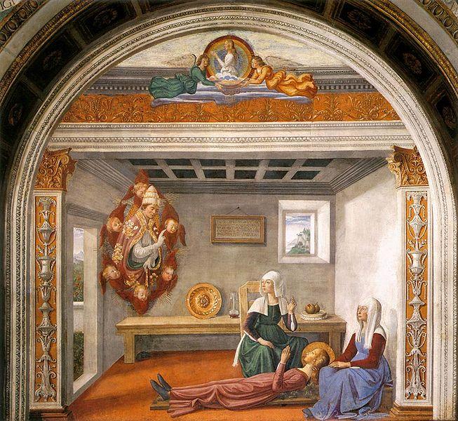 Domenico Ghirlandaio: Annuncio della morte di santa Fina