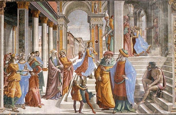 Domenico Ghirlandaio: Presentazione al Tempio della Vergine