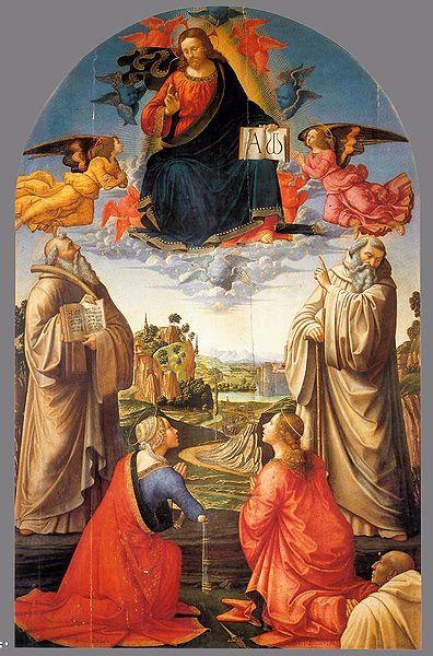 Domenico Ghirlandaio: Cristo in gloria con quattro santi e un committente