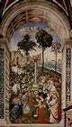 Enea Silvio, vescovo di Siena, presenta Eleonora d'Aragona all'imperatore Federico III
